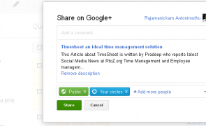 Google Blogger gets New Feature to share the Posts with Google+ Circles