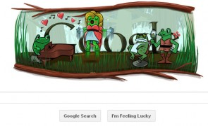Google's Two in One Doodle for Leap year and Gioachino Rossini's birthday