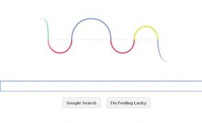 Google Doodle for Heinrich Rudolf Hertz's 155th birthday