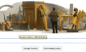 Howard Carter 138 birthday_google_doodle