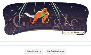 London 2012 Artistic Gymnastics Men's Rings Google Doodle