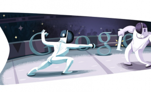 """London 2012 Fencing"" is the Fourth Day  Doodle from Google for  the London 2012 Olympics"