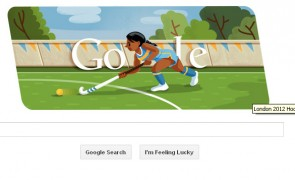 London 2012 Hockey Google Doodle