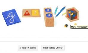 Maria Montessori 142 birthday google doodle