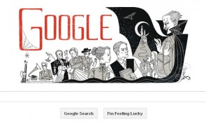 Bram Stokers 165th birthday _google doodle
