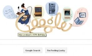Ada Lovelace's 197th birthday Google Doodle