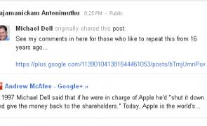 Michael Dell clarifies his comment about Apple's shut down