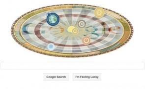 Nicolaus Copernicus' 540th birthday Google Doodle