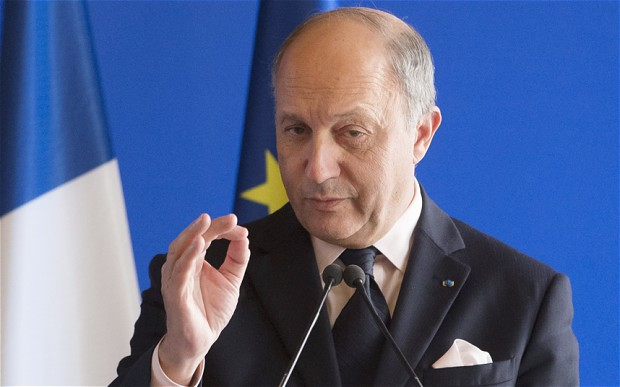 Laurent Fabius, France's foreign minister .