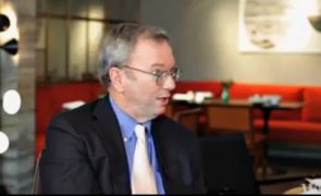Google's Eric Schmidt talks against the NSA spying of Google's Data Centers.
