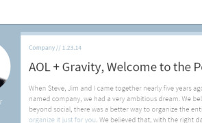 AOL acquires Software Startup Gravity