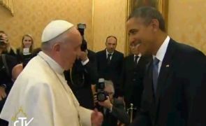 Barack Obama and Pope Francis meet for first time