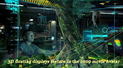 3D floating displays feature in the 2009 movie Avatar