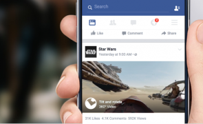 Facebook launches 360-degree videos with  Star Wars trailer