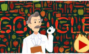 Google Doodle for Wilbur Scoville's 151st Birthday