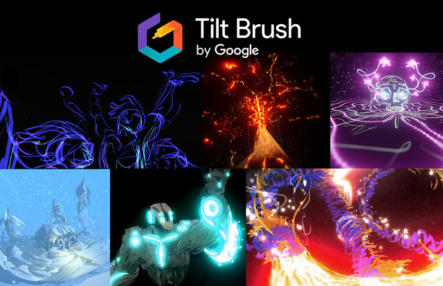 Tilt Brush is Google's Virtual Reality (VR) Painting App for HTC Vive to paint in 3D