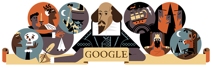 William Shakespeare Google Doodle