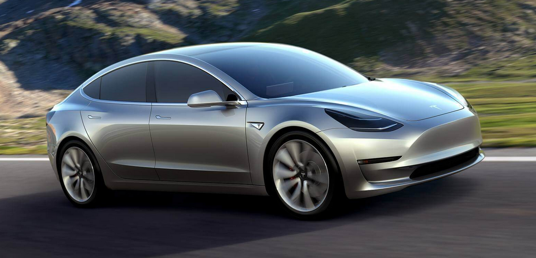 "Elon Musk unveiled Tesla's new Electric Car ""Tesla Model 3""."