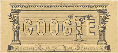 Google Doodle celebrates the First Modern Olympic Games
