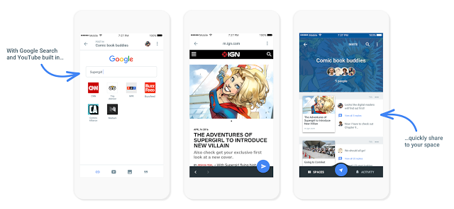 "Spaces: Google launches Group-Sharing App ""Spaces"" on Android, iOS and Web"