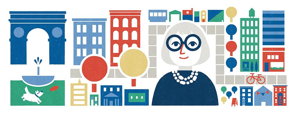 Jane Jacobs Google Doodle