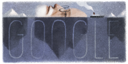 Google doodle for Sigmund Freud's 160th Birthday