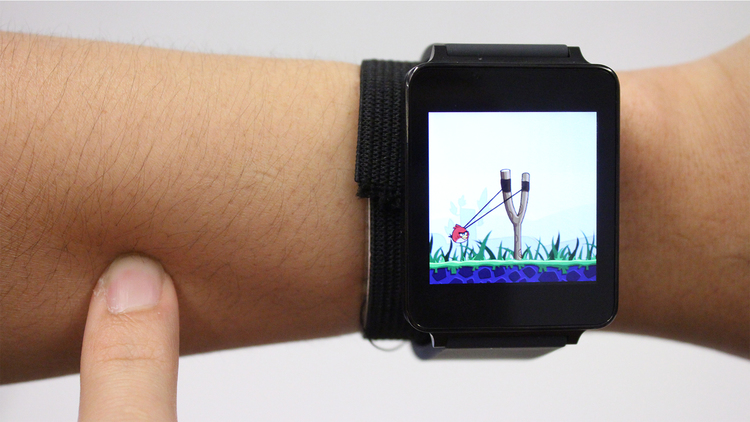 SkinTrack Turns your skin into a Touchscreen for your Smartwatch