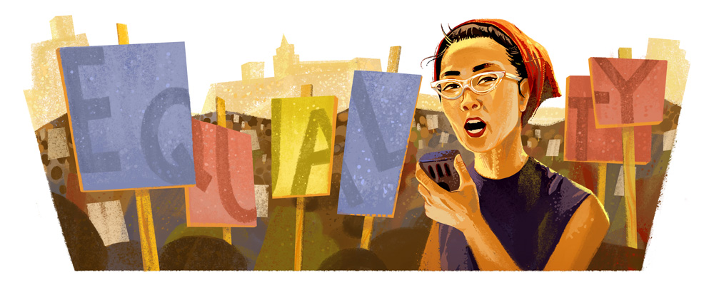 Yuri Kochiyama's 95th Birthday Google Doodle