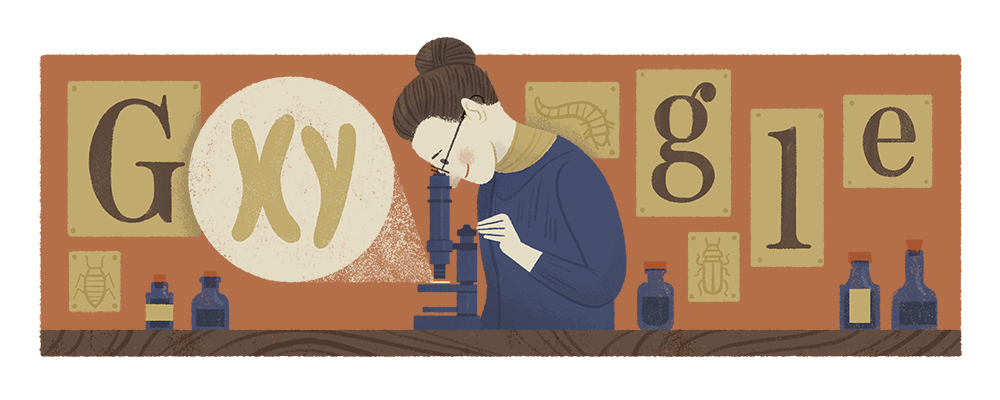 Nettie Stevens' 155th birthday Google Doodle