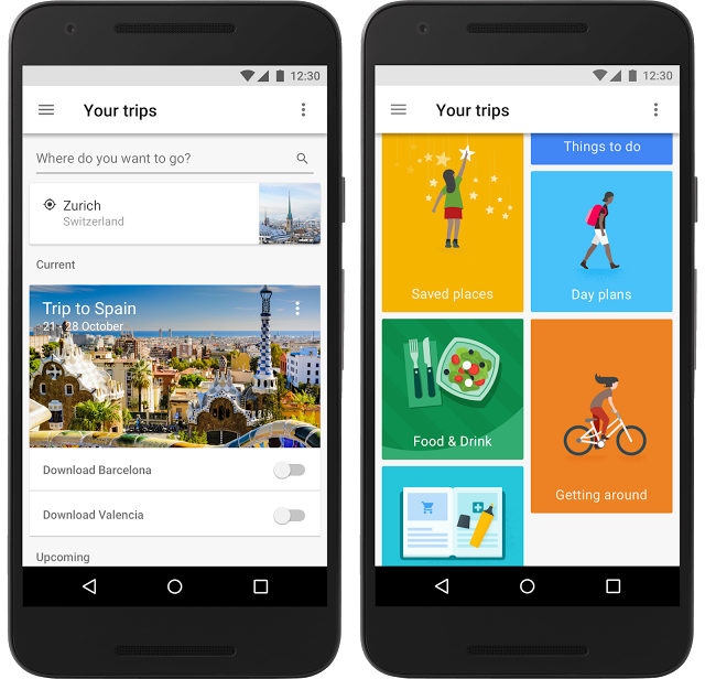 "Google releases a new travel app ""Google Trips"" to organise Trips"
