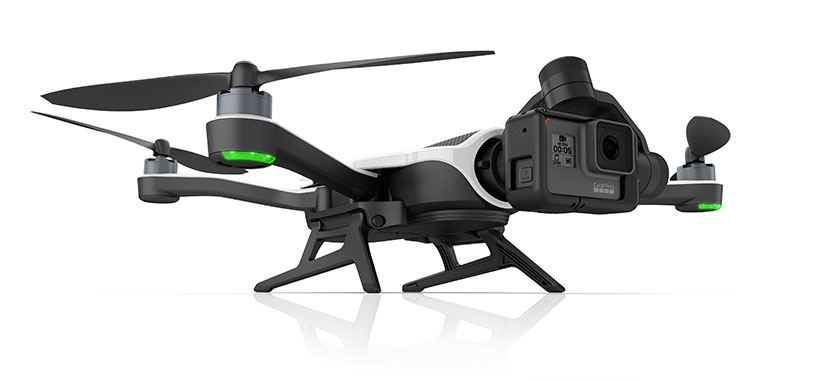 GoPro's Karma Drone folds up and fits in a Backpack. Karma Drone costs $799