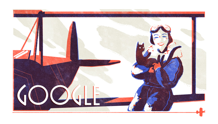 Jean Batten Doodle: Google shows Doodle for Aviator Jean Batten's 107th birthday