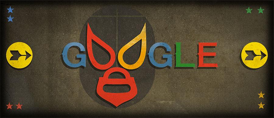 El Santo Google Doodle. Mexican Masked Wrestler Rodolfo Guzmán Huerta (El Santo)'s 99th Birthday