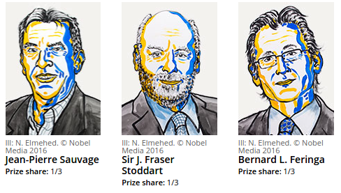 2016 Nobel Prize in Chemistry awarded to 3 Scientists for their work on Molecular Machines