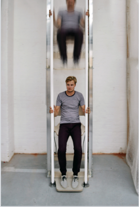 Vertical Walking – Manually powered Elevator uses 10% as much Energy as climbing Stairs
