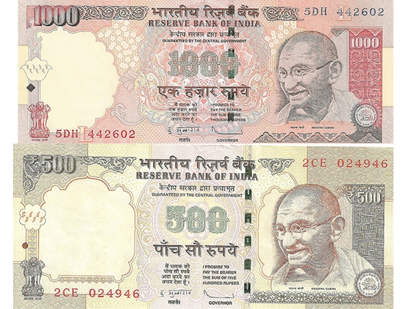 India Banned 500 and 1000 Rupees Notes. 2000 Rupees Notes will be issued.