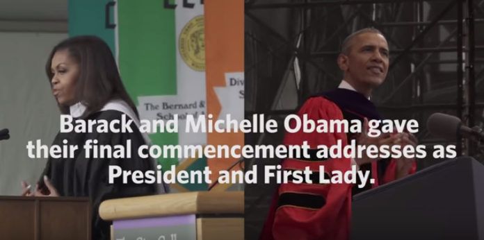Inspiring Final Commencement Addresses of Obama and Michelle Obama