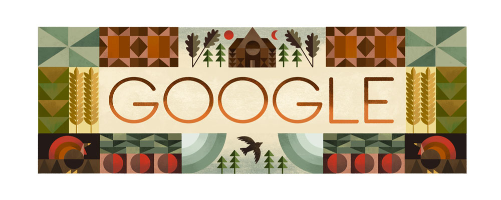 Google Doodle for Thanksgiving 2016
