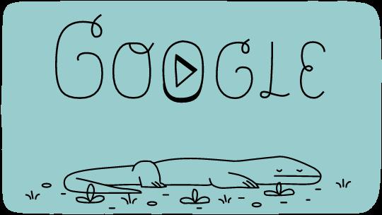 Komodo National Park Google Doodle