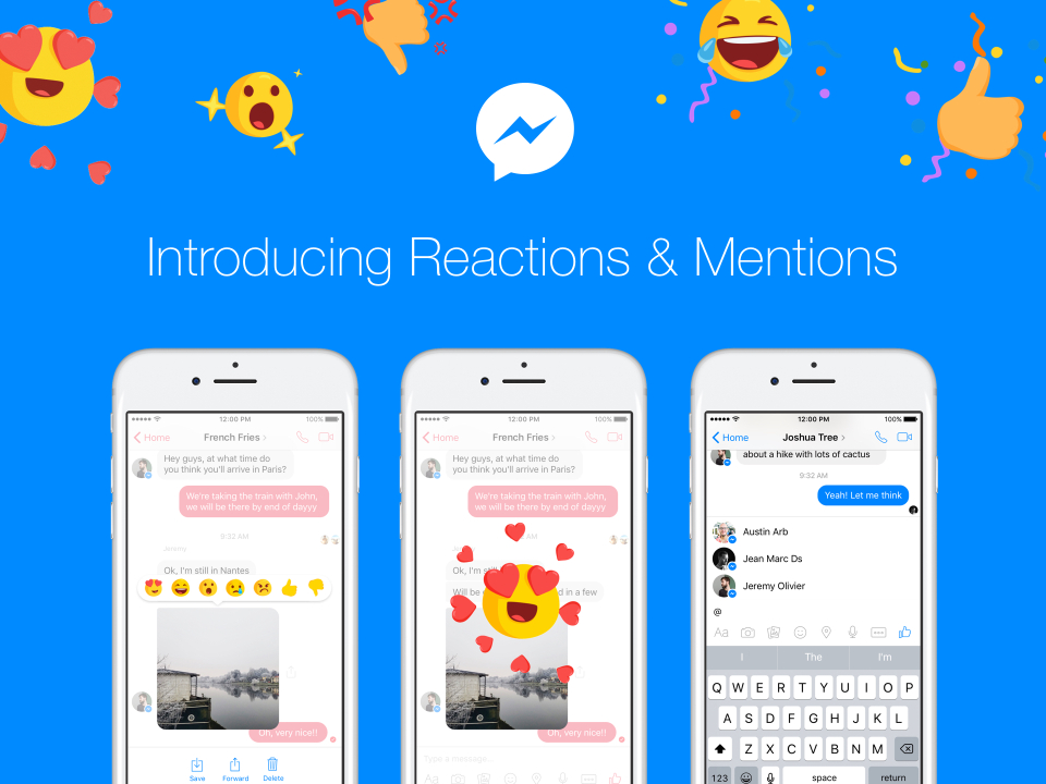 Facebook rolls out Message Reactions and Mentions for Facebook Messenger App
