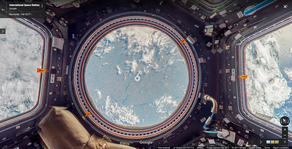 Google Street View allows you to go Inside the International Space Station (ISS)