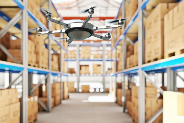 Drones relay RFID signals for inventory control