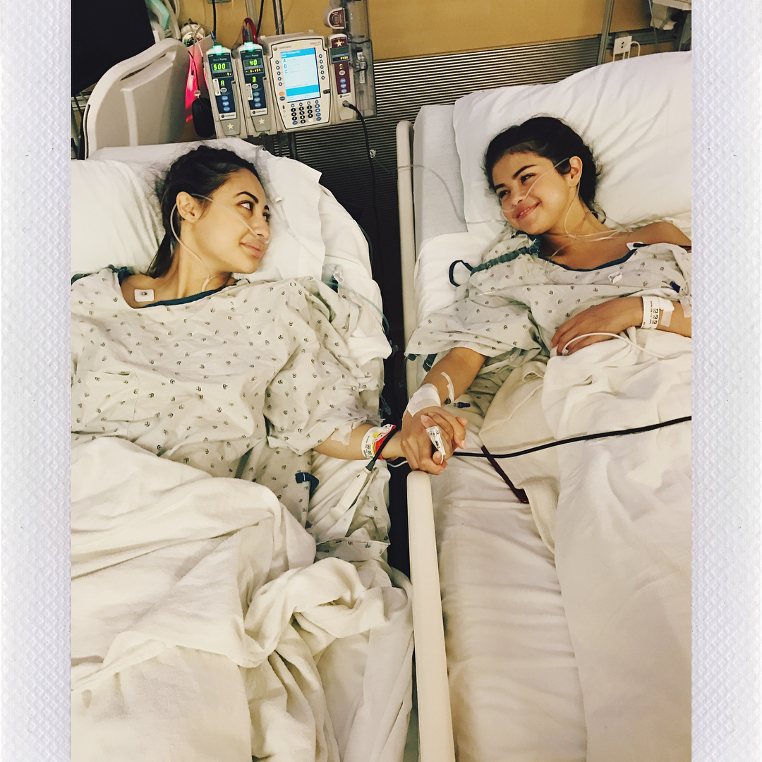 Selena Gomez  received a kidney transplant from her best friend Francia Raisa
