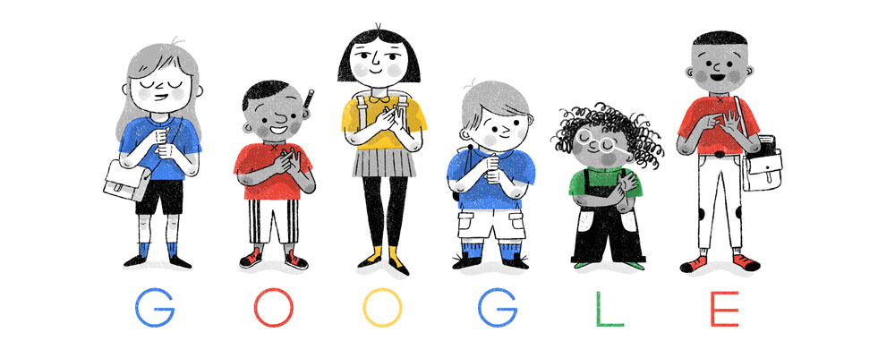 Celebrating British Sign Language and the Braidwood Academy Google Doodle