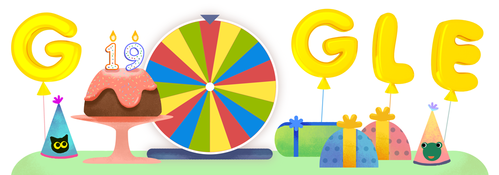Google's 19th Birthday – google birthday surprise spinner
