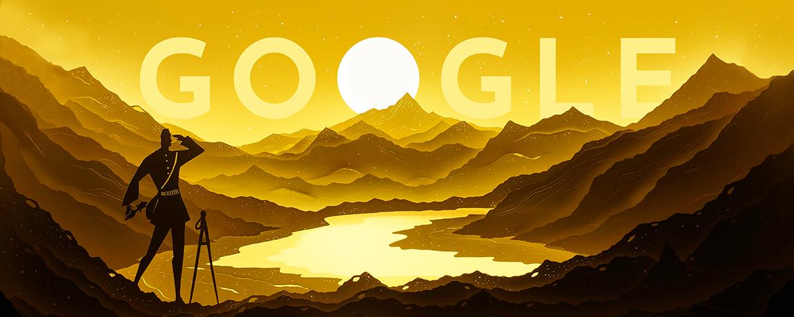 Nain Singh Rawat's 187th birthday Google Doodle