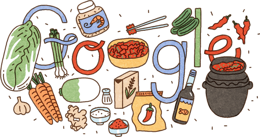 Google Celebrating Kimchi with Doodle