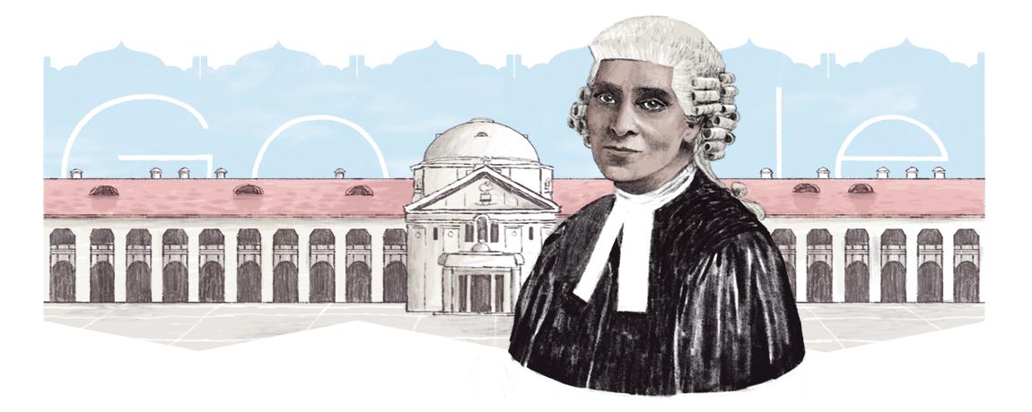 Cornelia Sorabji's 151st Birthday Google Doodle