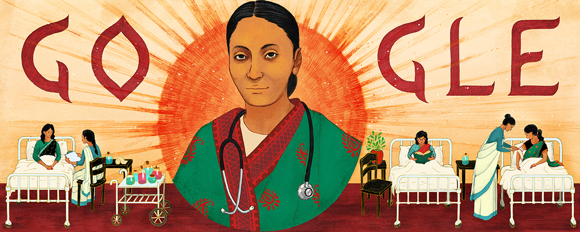 Rukhmabai Raut's 153rd Birthday Google Doodle