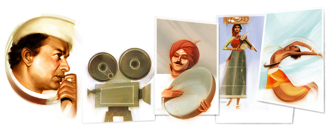 Google remembers legendary filmmaker V Shantaram with a doodle